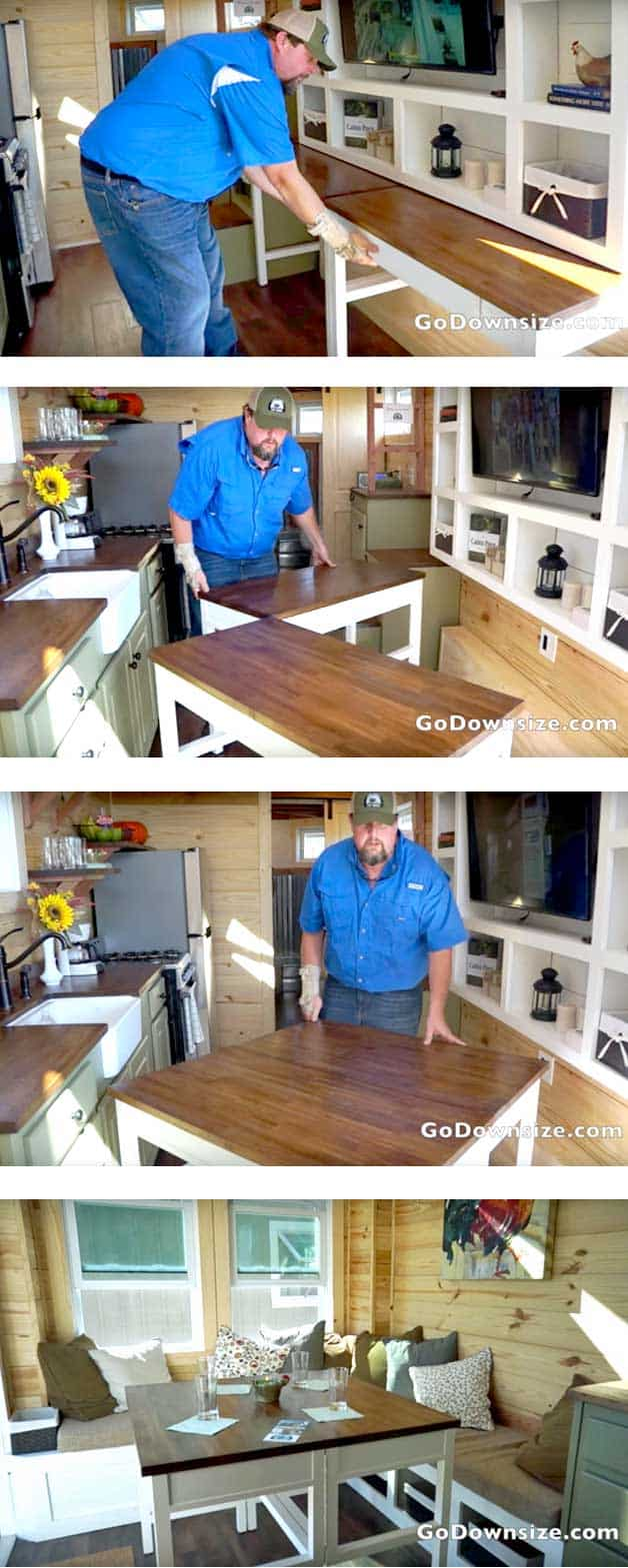 DIY dining table for small apartments