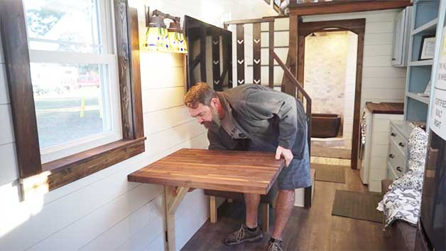 Big wall-mounted table top