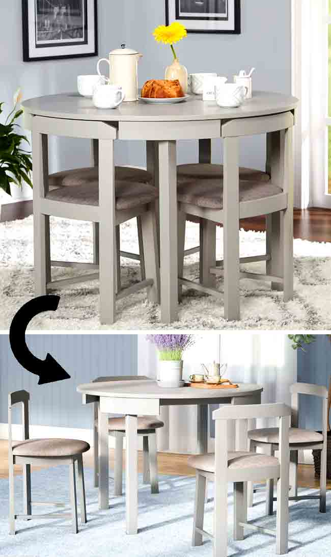 32 Amazing Dining Tables For Small Spaces Space Saving Ideas Godownsize Com