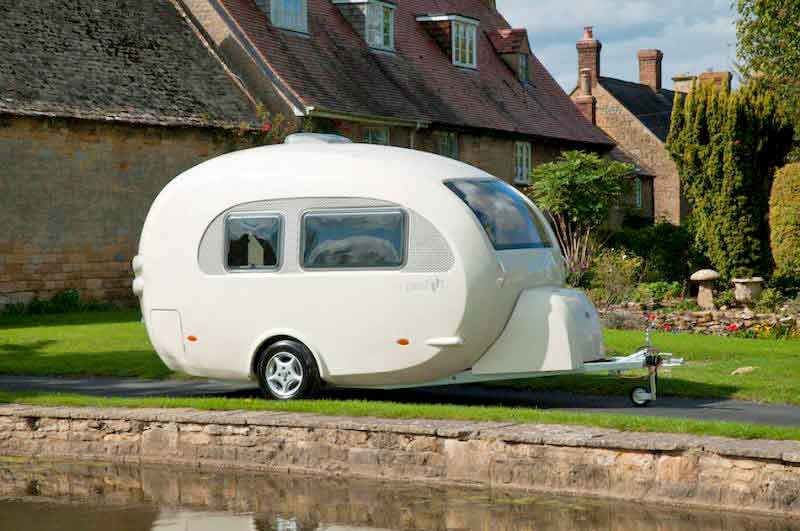 exterior view of carefoot camper trailer