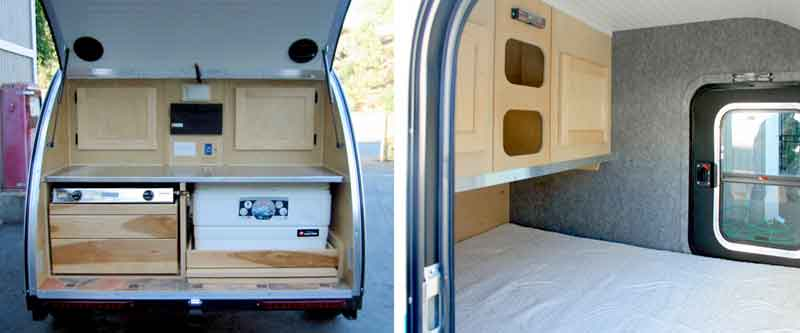 inside osprey teardrop trailer