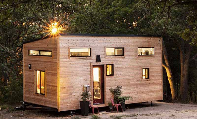 Tiny house from denmark from the outside