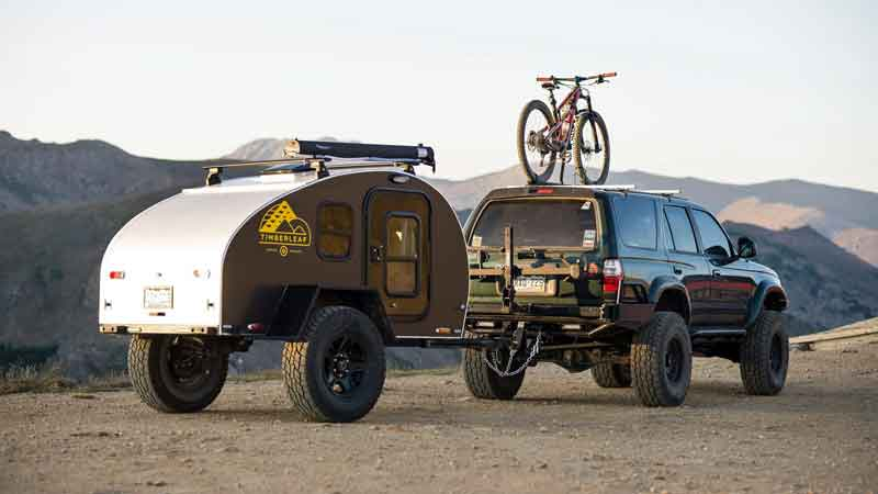 Pika teardrop trailer with truck