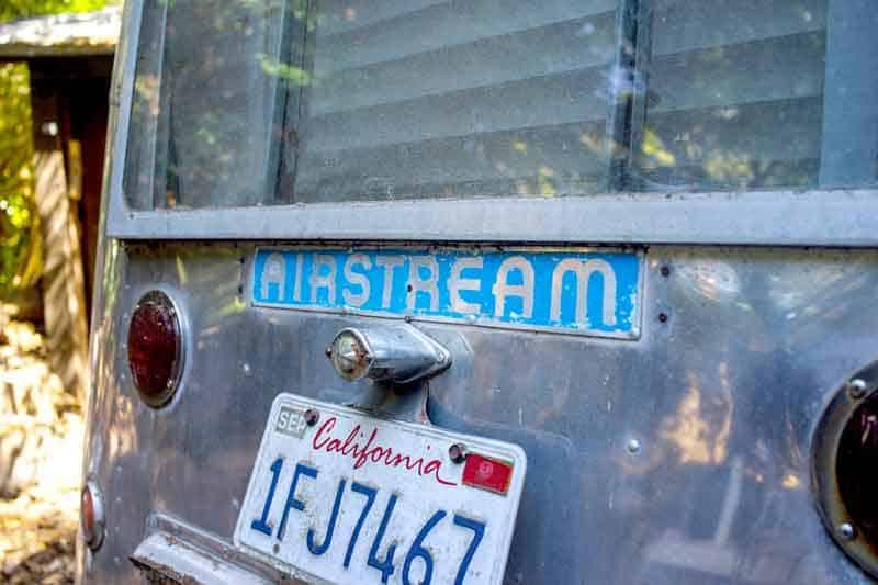 Old vintage airstream model