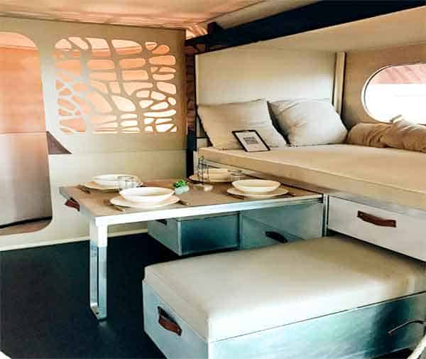 modern interior of RV