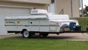 popup camper unfolded