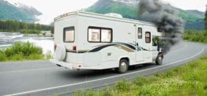 RV break down with smoke
