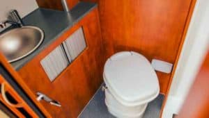 RV plumbing toilet