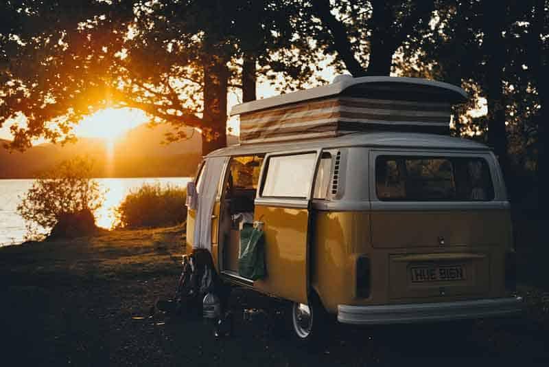 Vintage popup camper