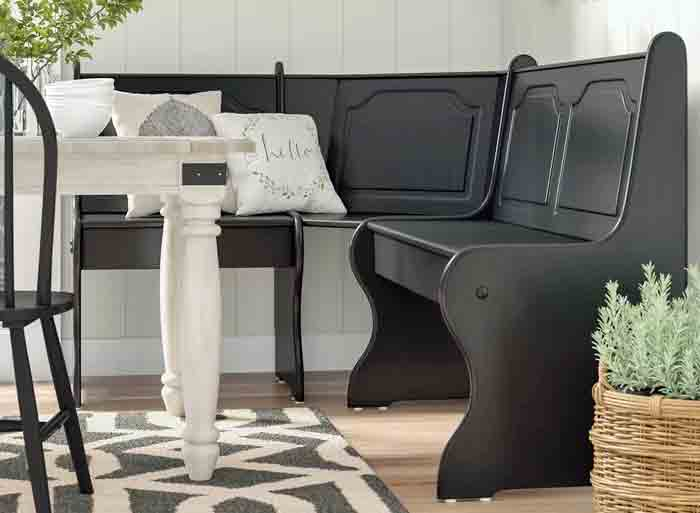 Corner benches for small spaces