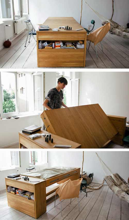 Table and bed in one