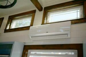 Air condition unit inside tiny house
