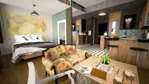 Furnished modern studio apartment