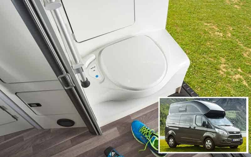 The Nugget Westfalia with big toilet