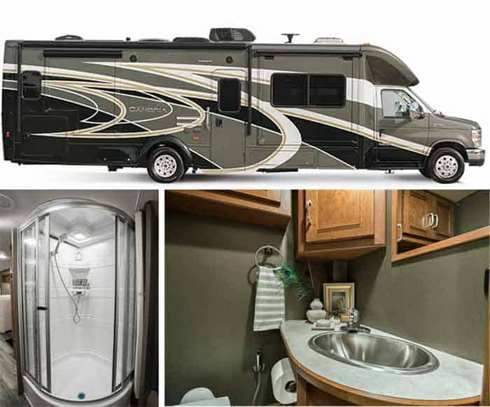 RV with bathroom
