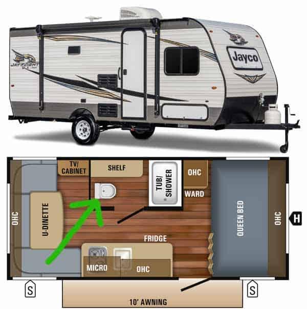 jayco caravan with toilet